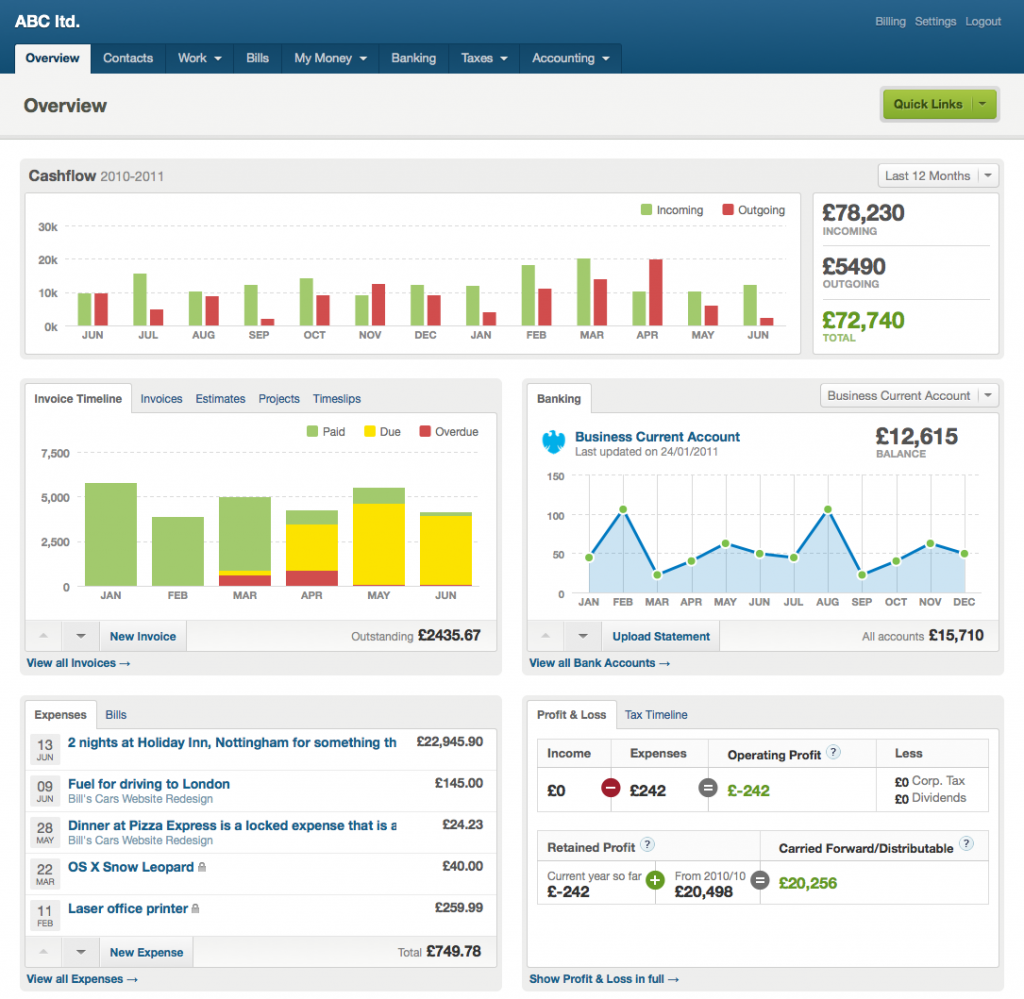 kb-accountancy-group-freeagent-dashboard-screenshot