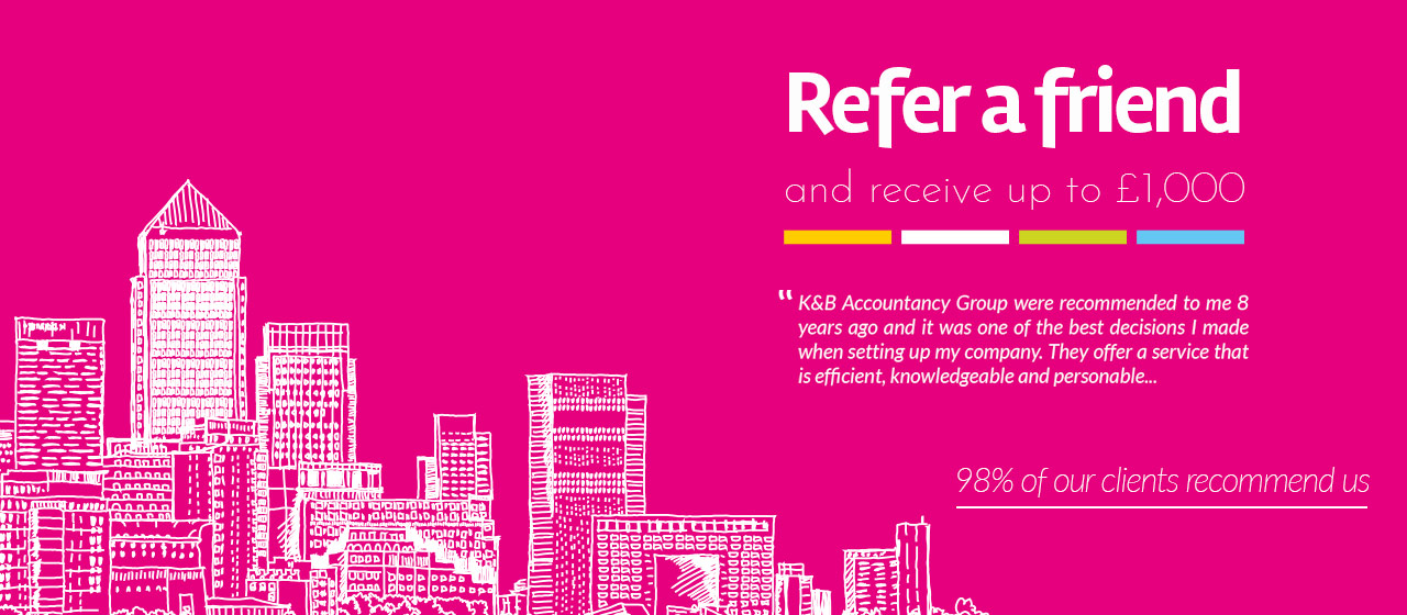 refer a friend special offer - contractor accountants - specialist - accountancy service - recommendation